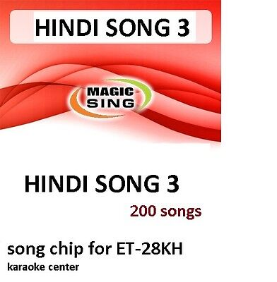 HINDI 3 CHIP Enter Tech Entertech Magic Sing Mic 200 Songs for ET28KH