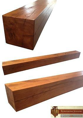 Oak Mantle Mantelpiece floating shelf square various sizes available hand made