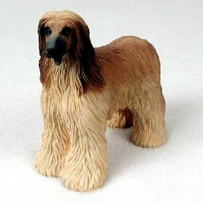 AFGHAN Dog HAND PAINTED FIGURINE Resin Statue Collectible TAN BROWN Puppy HOUND