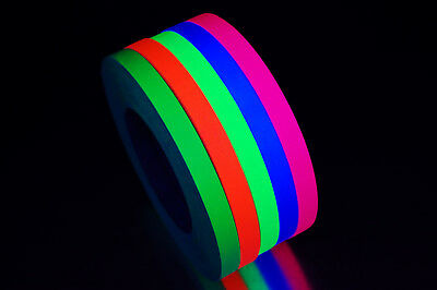 Half Inch UV Blacklight Reactive Fluorescent Gaffer Tape 1 Roll x 45 Yards