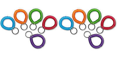 MMF Industries Cool Coil Wrist Holder/Key Ring Single Coil Color Asst 2 Packs