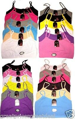 Girls PreTeen Cotton Training Bras SPAGHETTI Straps Tank Top #605 #606 Lot S~XL
