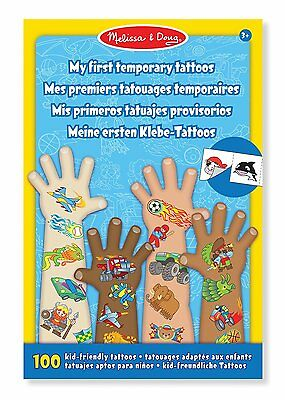 Melissa & Doug My First Temporary Tattoos - Blue Removable Tattoos
