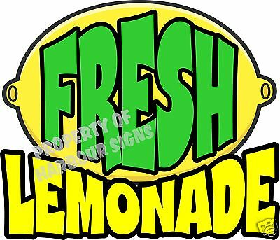"Fresh Lemonade Decal 14"" Drinks Food Truck Restaurant Concession"