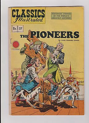 Vintage Classics Illustrated Comic Book The Pioneers #37 No Price