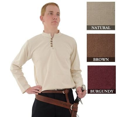 Pirate Medieval Reenactment Larp SCA Renaissance Costume Cotton Shirt