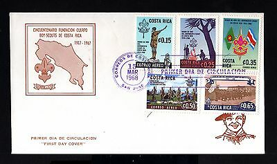 8468-COSTA RICA-FIRST DAY COVER SAN JOSE.1968.50 Aniv.Boys scouts.Primer dia.