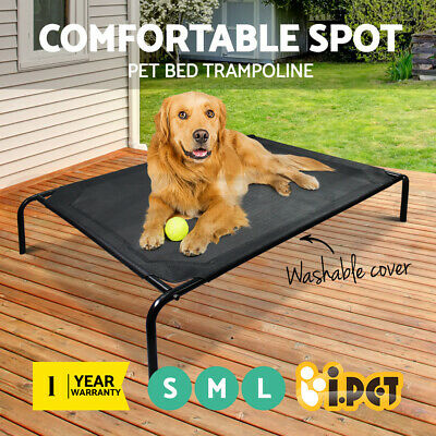 i.Pet Pet Bed Trampoline Dog Puppy Cat Heavy Duty Frame Hammock Mesh S M L