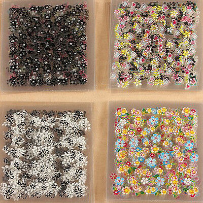 10/30/50 Sheets Nail Art Transfer Stickers 3D Design Manicure Tips Decal Decor E