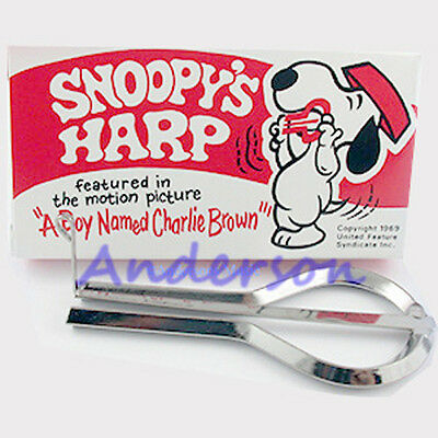 New Snoopy Jaw Jews Harp Low World Shipping *brand New*