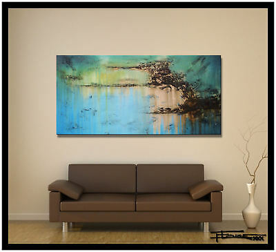 ABSTRACT PAINTING, Modern Canvas Wall Art, Large,  Framed, Signed, US ELOISExxx