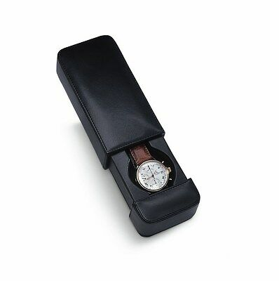 Venlo Milano Italian Leather Travel Watch Case Holder Black New lwt-1