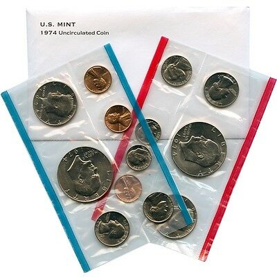 1974 P and D US Mint Uncirculated Coin Set
