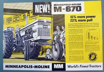 Original 1965 Minneapoilis Moline Tractor Ad THE NEW M-670 GIVES YOU MORE POWER