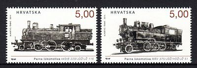 Croatia 2014 Locomotives Set 2 MNH