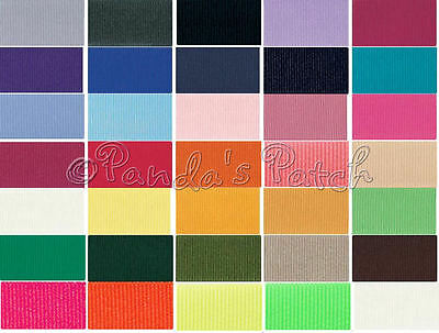 Berisfords 10mm Double Sided Polyester Grosgrain Ribbon Choose Length and Colour
