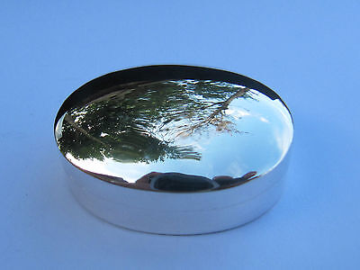 Oval  Sterling Silver Pill Box - New (Last Ones)