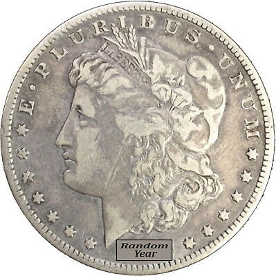 Random Year 1878-1904 $1 Morgan Silver Dollar VG to F