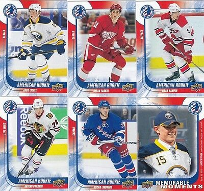 2015-16 Upper Deck American National Hockey Day Complete 17 Card Set Eichel RC