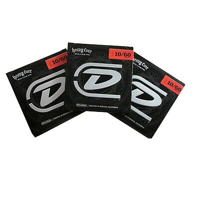 Dunlop Guitar Strings  Electric  3 Sets  Heavy Core  7 string guitar  10-60