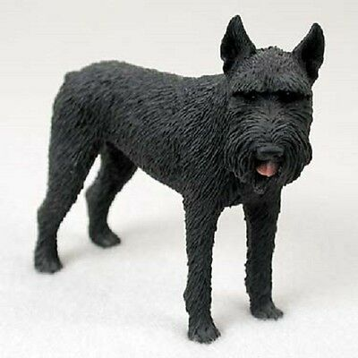GIANT SCHNAUZER Dog HAND PAINTED FIGURINE Resin Statue COLLECTIBLE Black Puppy