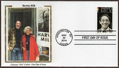 2014 Harvey Milk ~ Colorano Cachet ~ First Day Cover