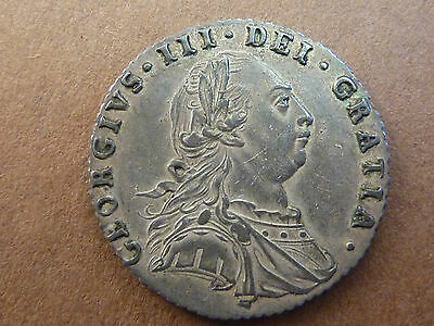 GEORGE III 1787 SILVER SIXPENCE 6d COIN