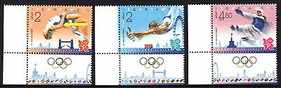 Israel 2012 London Olympics Set 3 MNH