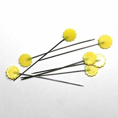 Yellow Flat Flower Pins