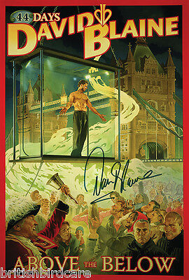 DAVID BLAINE Magician 44 Days Above & Below Signed Poster A2 Size 59x42cm