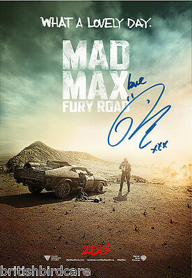 MAD MAX Fury Road Tom Hardy Quality Signed Autograph VERY RARE Movie Film POSTER