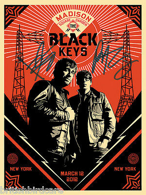THE BLACK KEYS POSTER Quality Signed Autograph Madison Square Garden Concert