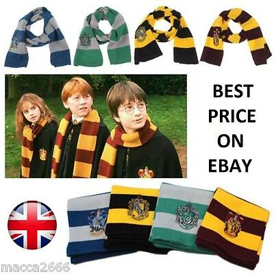 Harry Potter Scarf Gryffindor-Slytherin-Hufflepuff-Ravenclaw House Gift Cosplay