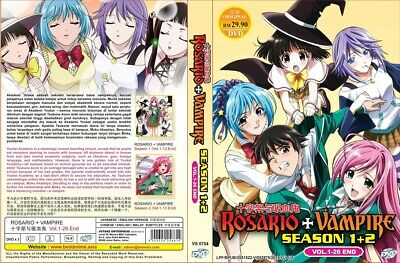 ROSARIO+VAMPIRE Box Set | S1+S2 | Eps.01-26 | English Audio! | 2 DVDs (HF567)-LU