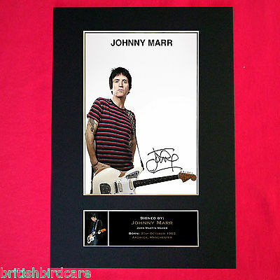 JOHNNY MARR Mounted Signed Photo Reproduction Autograph Print A4 326