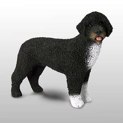 PRESIDENTIAL PORTUGUESE WATER DOG Hand Painted FIGURINE Statue COLLECTIBLE puppy