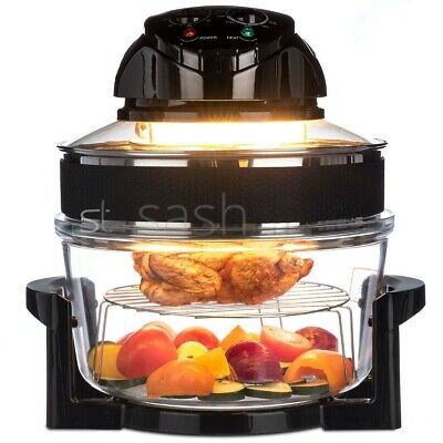 17L Electric Multi-function Air Fryer Oven with Extender Ring and Timer Fat-Free