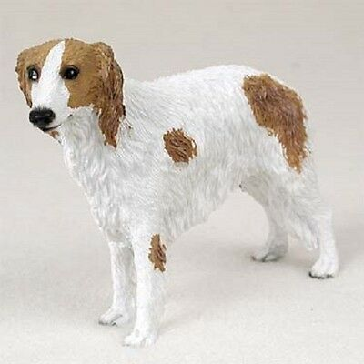 BORZOI Dog HAND PAINTED FIGURINE Resin Statue COLLECTIBLE puppy NEW