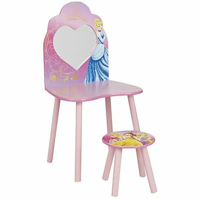 Disney Princess Dressing Table And Stool Kids Bedroom 100% Official New Free P+P