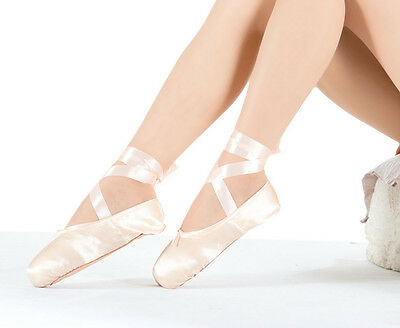 Newest Ballet Dance Toe Shoes Womens Lady Girl Childrens Satin Pointe Shoe Pink