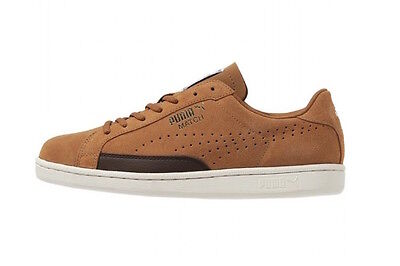 New Mens Puma Match Suede Tan / Brown / Gold Sizes 6.5 To 10.5 Uk
