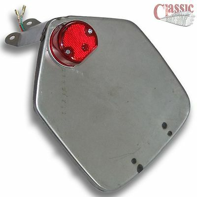 Custom motorcycle steel number plate with tail light