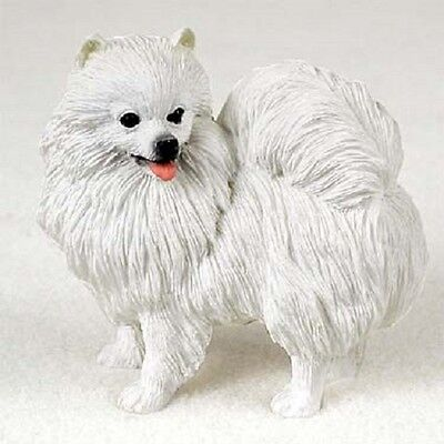 AMERICAN ESKIMO MINIATURE Dog HAND PAINTED FIGURINE Statue COLLECTIBLE puppy NEW