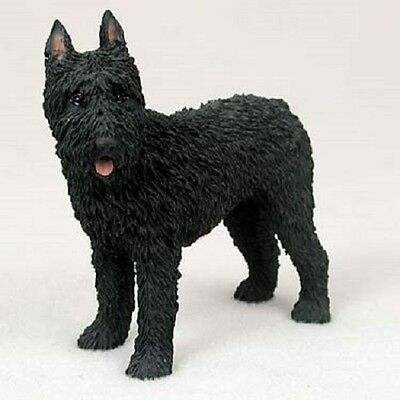 BOUVIER Dog HAND PAINTED FIGURINE Resin Statue COLLECTIBLE puppy CROPPED New
