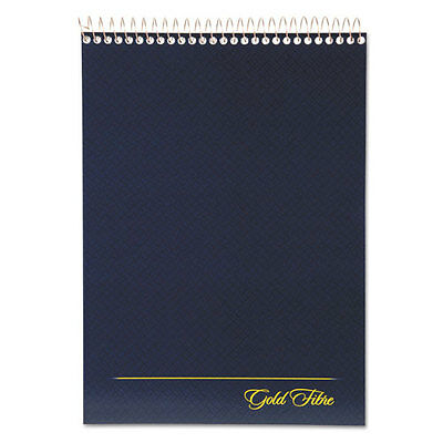 Ampad Gold Fibre Wirebound Writing Pad W/cover 8.5 X 11 3/4 White Navy Cover