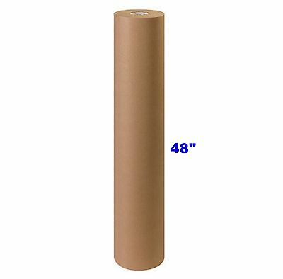 "48"" x 900' Brown Kraft Paper Roll 40# lb Shipping Wrapping Packaging Cushioning"