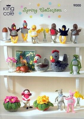 King Cole Spring Easter Toys Big Value Knitting Pattern 9000  DK (KCP-9000)