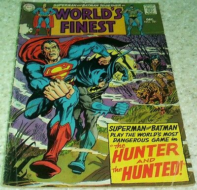 World's Finest 181, VG+ (4.5), 1968, 50% off Guide