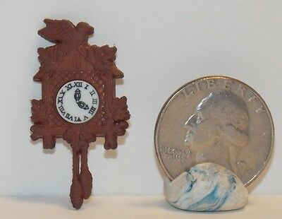 Dollhouse Miniature Cuckoo Clock Non-working 1:12 inch scale  H21 Dollys Gallery