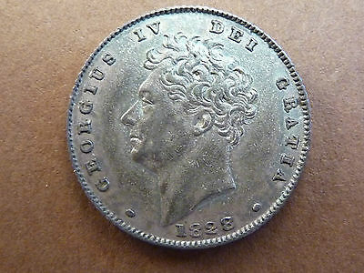 GEORGE IV 1828 SILVER SIXPENCE 6d COIN